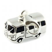 Camper Van Sterling Silver Clip On Charm - With Clasp